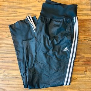 Adidas Black and white performance pants.